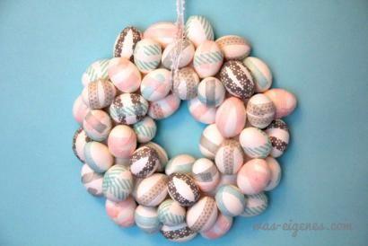 A wreath of washi eggs!