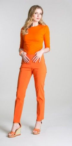 Ankle pants BCP8161available in orange (pictured), black, sand and white