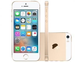 "iPhone SE Apple 64GB Dourado 4G Tela 4"" Retina - Câm. 12MP iOS 9 Proc. Chip A9 Touch ID"