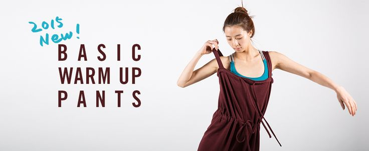 2015년에 선보이는 루스플라이의 첫번째 제품. 베이직 웜업 팬츠.