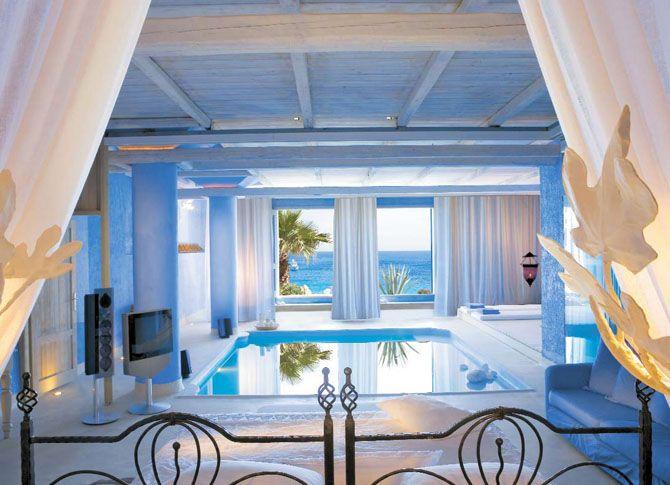 Beach bedroom: Gorgeous Bedrooms, Indoor Pools, Dreams Bedrooms, Swim Pools, Bedrooms Design, Dreams House, Interiors Design, Sea View, Bedrooms Interiors