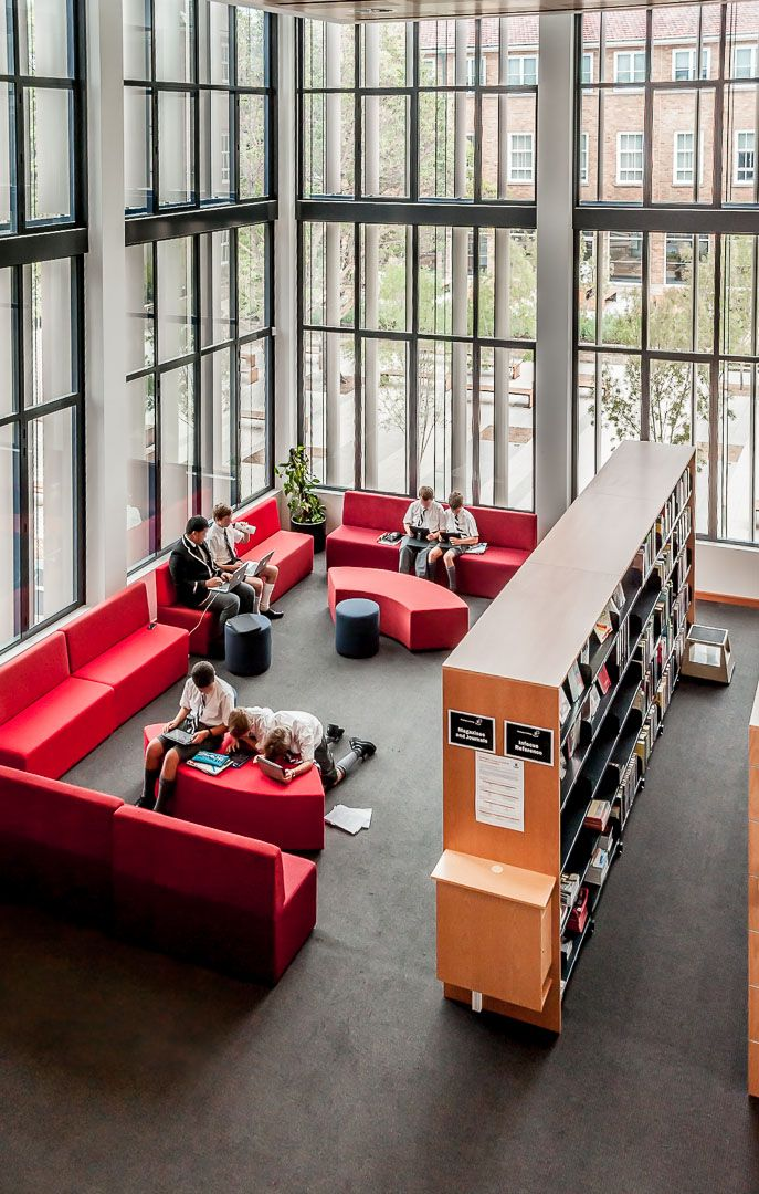 High angle view - Wide Reading Area - Newington College Library