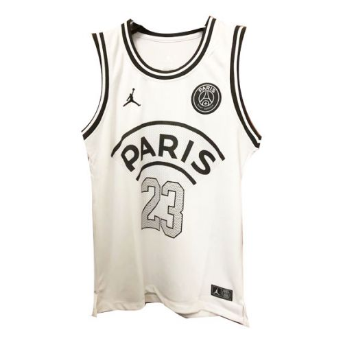 d454b2244610ec PSG×JORDAN Jordan  23 White Basketball Jersey Shirt