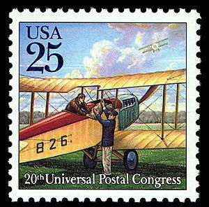 25c  Biplane single. 1989