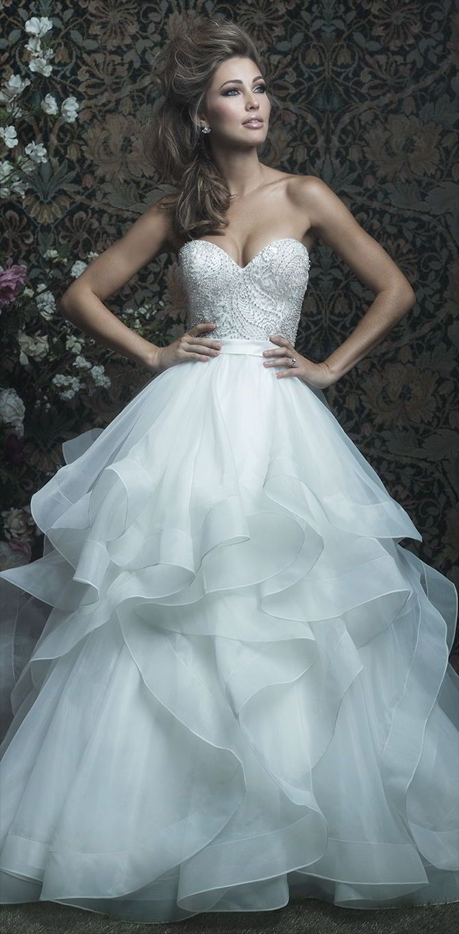 756 best Wedding Dresses images on Pinterest | Wedding frocks ...