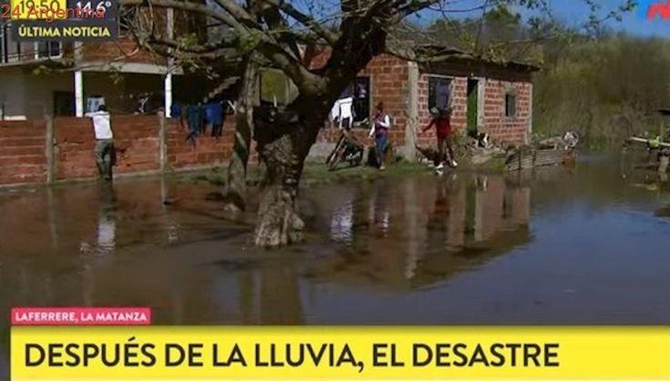 Por las inundaciones hay vecinos aislados entre el agua, el barro y las cloacas en el GBA