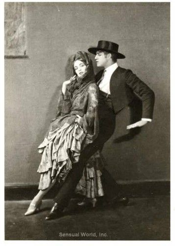 Ballet Dancer Martha Graham TED Shawn Postcard 1922 Dancing Couple Tango