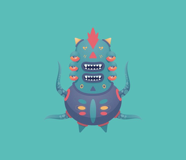 """Check out this @Behance project: """"Cute Monster Pack 2"""" https://www.behance.net/gallery/48459175/Cute-Monster-Pack-2"""