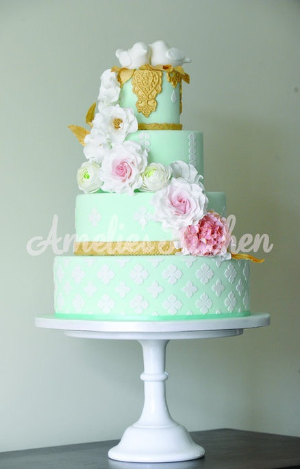 wedding cake mint 1000 ideas about mint green cakes on green 23253