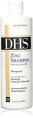 DHS Zinc Shampoo 16oz  for Daily Cleaning of Hair & Scalp 16 fl oz PRIORITY SHIP