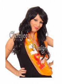Oranje sjaal satijn Holland