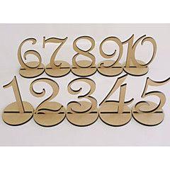 Hot style wooden article Numbers 1-10 seats brand wedding wedding ramadhin furnishing articles
