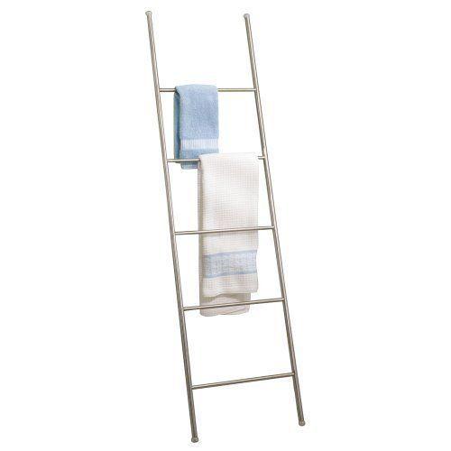 £67, InterDesign Forma Bath Towel Holder Storage Ladder - 5 Rungs, Brushed Stainless in Home, Furniture & DIY, Bath, Towel Rails | eBay