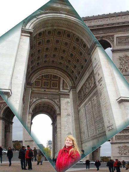 Paris Arc de Triomphe and Éva Ilona royal sybilla * Hungarian Sibyls in Paris, remembering mlle Lenormand, esoteric Tour * www.lenormand.hu