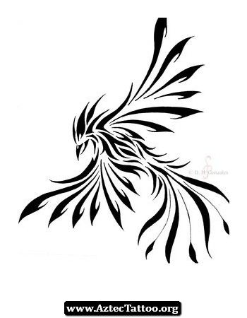 Эскиз тату Феникс в стиле tribal Татуировку .РФ - фото и эскизы татуировок (тату , татуаж, Tattoo, наколки) для женщин и мужчин.