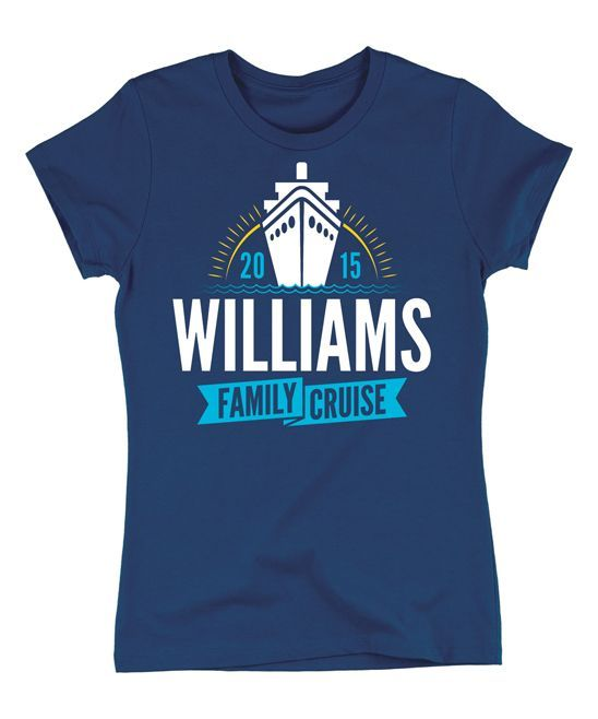 Navy 'Family Cruise' Personalized Tee - Women & Plus