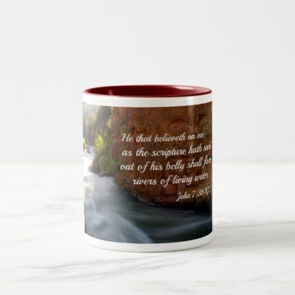 #John 7:38 He that believeth on me Two-Tone Coffee Mug - #office #gifts #giftideas #business