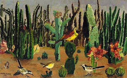 Cedric Morris Birds Among Cacti 1928