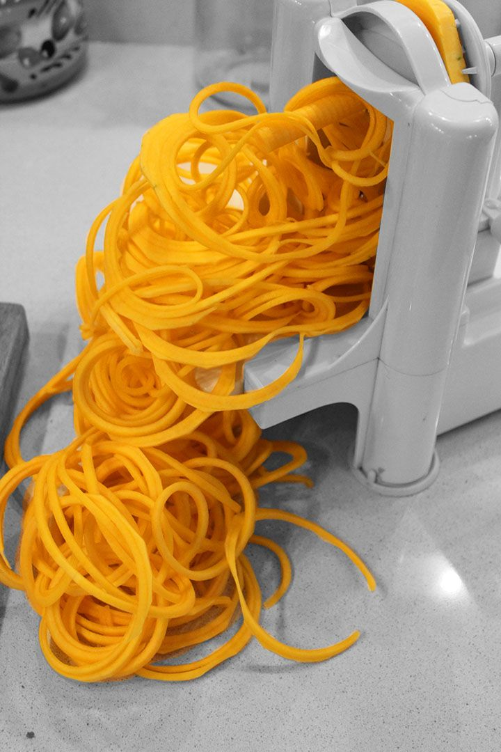 How to Spiralize a Butternut Squash - a step-by-step guide with pictures!