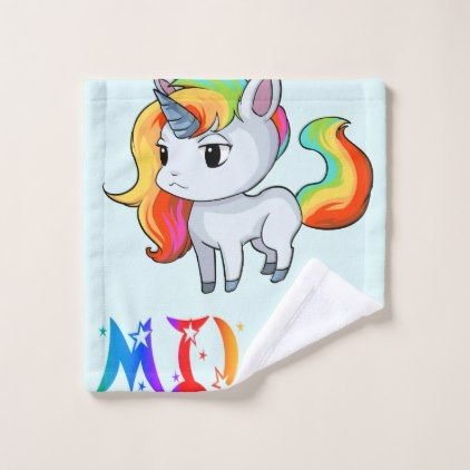 Milan Unicorn Wash Cloth - home gifts ideas decor special unique custom individual customized individualized