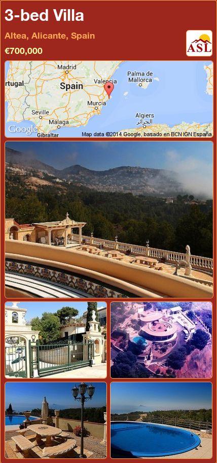 3-bed Villa in Altea, Alicante, Spain ►€700,000 #PropertyForSaleInSpain