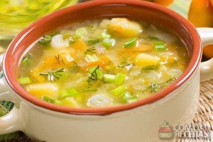 Sopa de legumes light!!!!!
