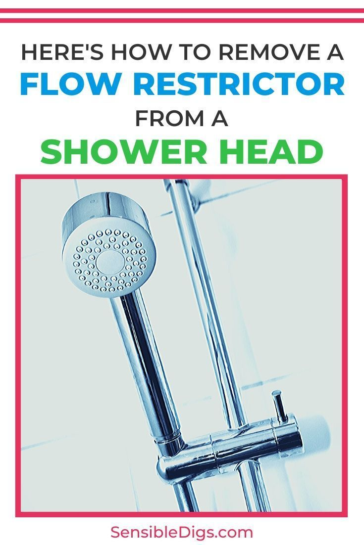 Here S Hot To Remove A Flow Restrictor From A Shower Head In 2020 Shower Heads Shower Faucet Shower Remodel