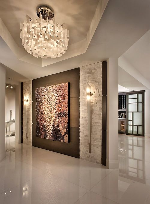 Large Painting, Wall, And Leave Back Part Of The Room Open   Luxury Homes