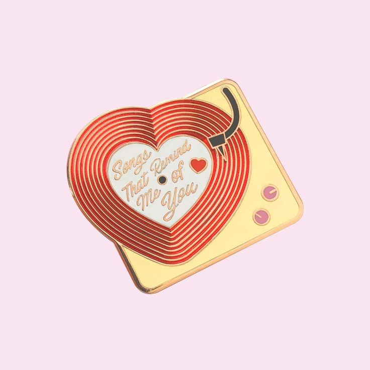 Love Record Player Pin
