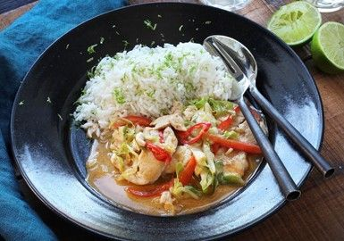 Thaicurry med kyckling 12 sp / portion