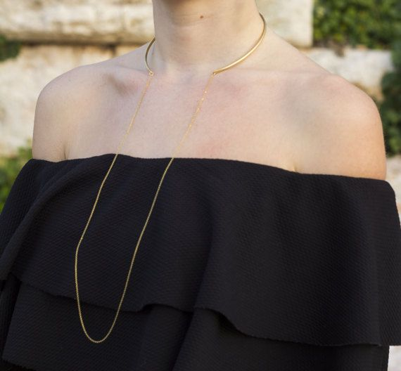 Arria chocker necklace Chocker necklace Gold by NARCISSUSJEWELRY