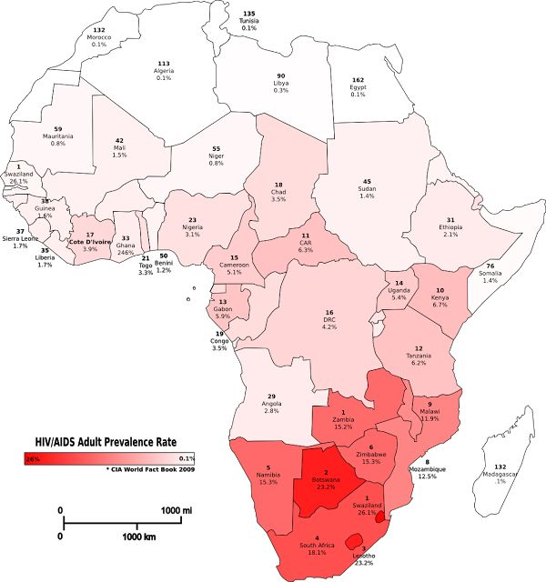 HIV/AIDS lower in African Muslim-majority  Prevalence Rate of HIV-AIDS (CIA fact book 2009)  The Africa Continent home for 1.1 billion people. Approximately 40% population is Muslims most of them widely spread in the northern region. This region include Arabic language or natives African such as Egypt Libya Morocco Tunisia and Algerie Sudan Somalia Djibouti Gambia Mauritania Mali Nigeria Senegal Sierra Leone etc. Islam becomes the absolute majority religion in these countries. On several…