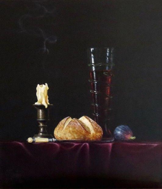 Ian Mastin, Of Bread and Wine, Acrylics | Scottish Contemporary Art