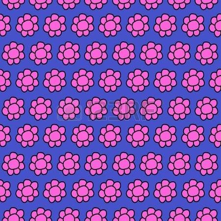Cute Doodle Flowers Seamles repeat pattern design