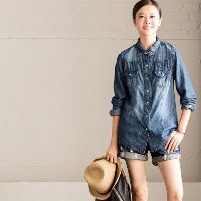 Best 25  Denim shirts women ideas on Pinterest | Jean shirt ...