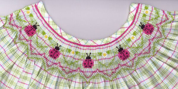 Pink Ladies - One of several new smocking plates by Cross Eyed Cricket.