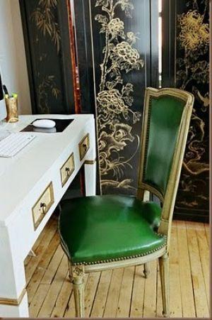 Green home decorating - myLusciousLife.com - emerald green leather chair.jpg