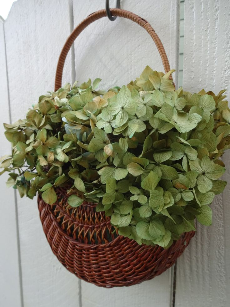 Hydrangea Basket Wall Basket Door Decor Home Decor Easter Decor Preserved Hydrangeas Mothers Day Gift Easter Basket Birthday Gift