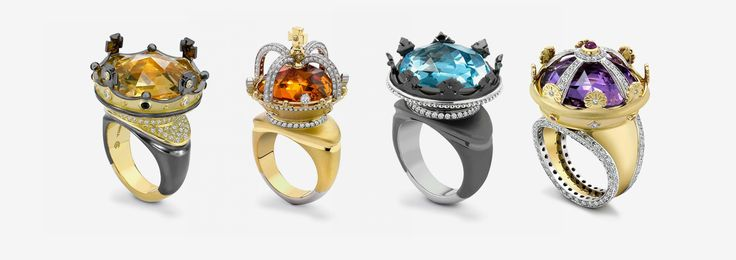 Theo Fennell crown rings
