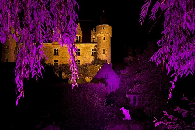 Le Chateau de Montrésor illuminé by Aurélien CHARRON, via Flickr