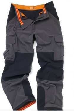 Damn fine rugged pants, with reinforced knees, ankles, & seat, plus a multitude of pockets, and are quick dry.