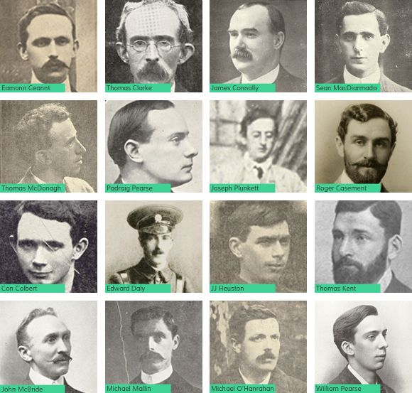 The leaders executed in the aftermath of the Easter Rebellion . Apart from the singular case of Roger Casement, Thomas Kent was the only person outside of Dublin to be executed for his role in the events of Easter Week.