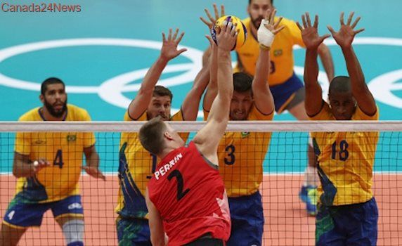 Brazil hands Canada 4-set loss in World League volleyball