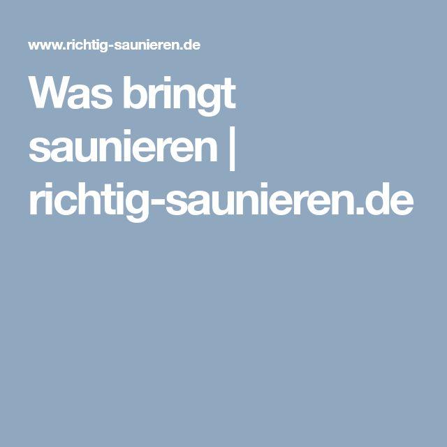 Was bringt saunieren | richtig-saunieren.de
