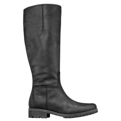 70edb1952 Timberland Women's Main Hill Tall Waterproof Boots Black Full-Grain