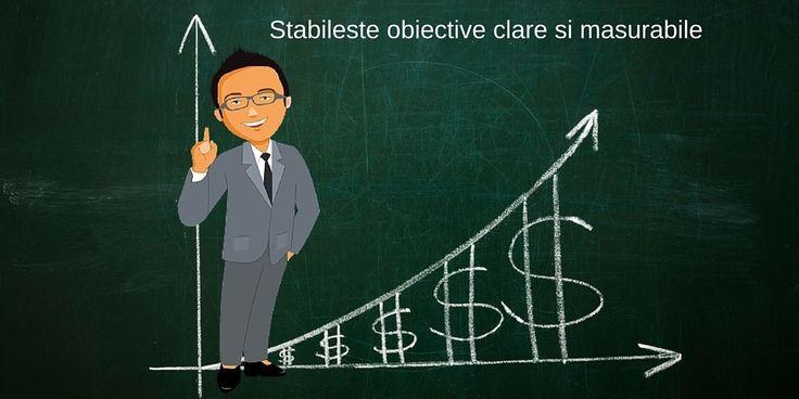stabileste obiective financiare