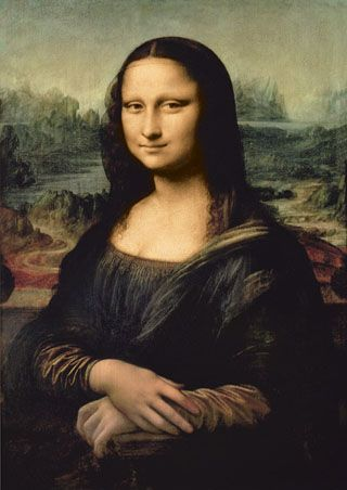 """One of my most loved pieces; The Mona Lisa. This was made when I moved back to Florence from Milan, Italy. In those six years, I made many pieces, including the Mona Lisa. The portrait is of a young wife of a Florentine citizen. """"Leonardo da Vinci."""" World History: Ancient and Medieval Eras. ABC-CLIO, 2012. Web. 28 Aug. 2012."""