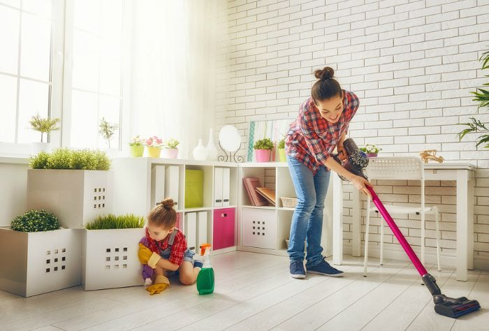 It took some time, but I've found the right combination of tools that make it quick and easy to handle common tasks like sweeping and mopping.
