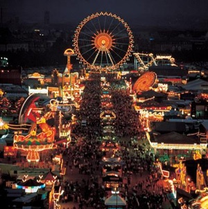 The famous Oktoberfest in Munich, Germany you can visit also from Regensburg, which is just 1 hour ride away. It starts already in the last week of September !
