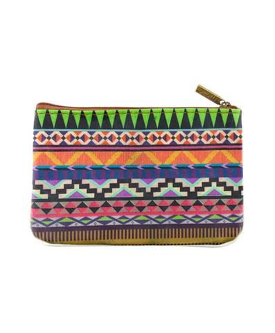Cancún Aztec faux leather printed pouch - Mlavi  - 2